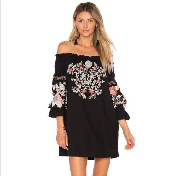 294072461dc2 Free People Dresses   Embroidered Fleur Du Jour Enchanted Garden ...